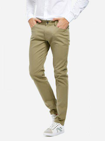 Chic Stretch Knit Slim Fit Pants - 30 KHAKI Mobile