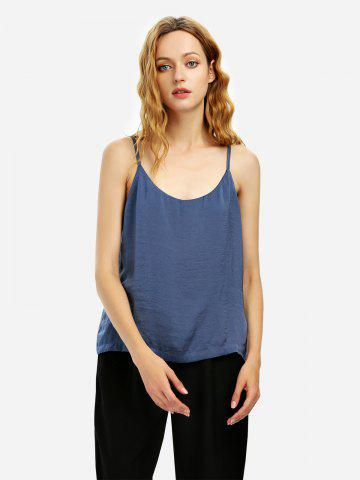 Trendy Camisole Top - M BLUE GRAY Mobile