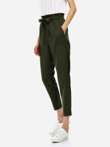 Best Cropped Pants OLIVE GREEN S
