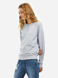 Sweat-Shirt Ample à Manches Longues - Gris L
