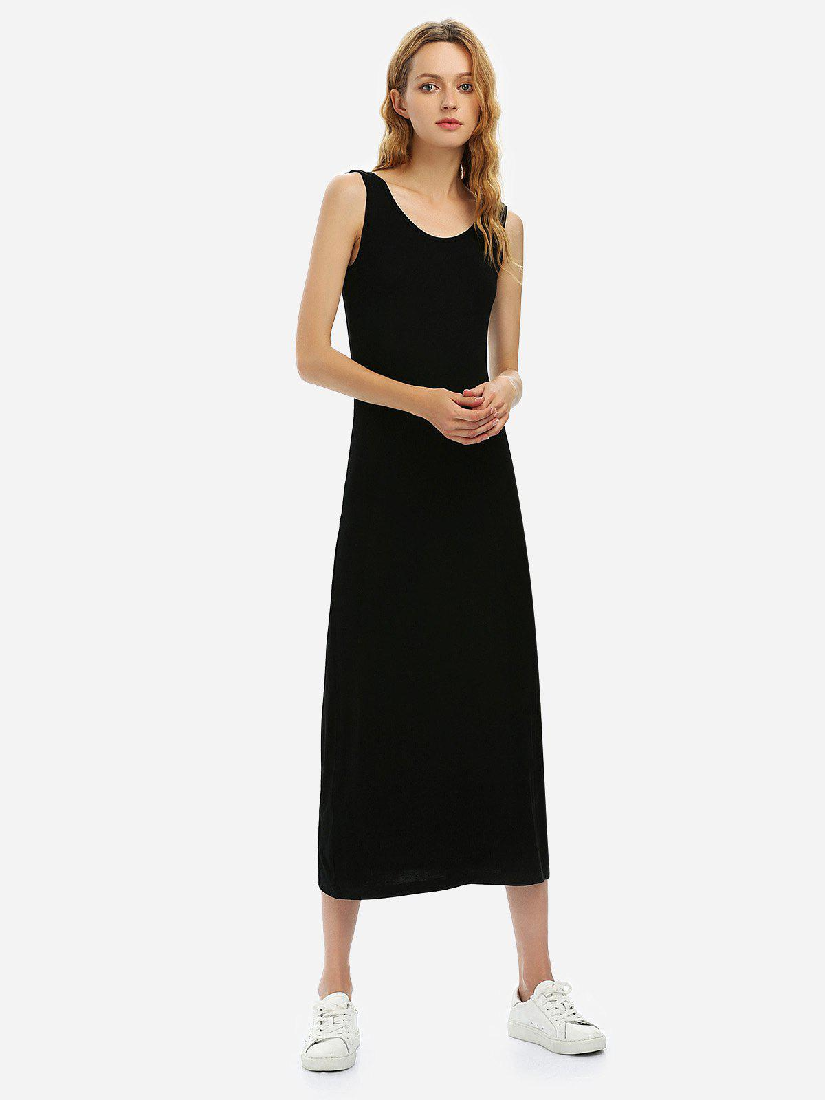 Shop ZAN.STYLE Crew Neck Sleeveless Dress