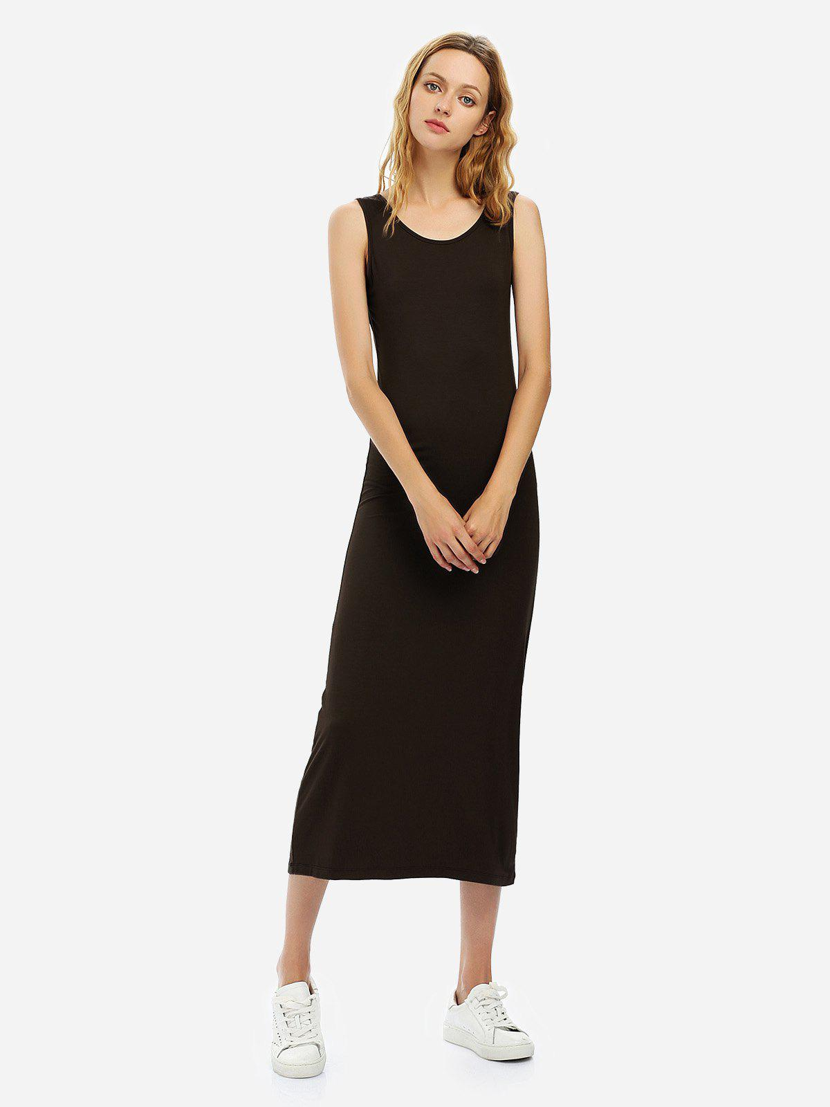 Outfit Crew Neck Sleeveless Dress