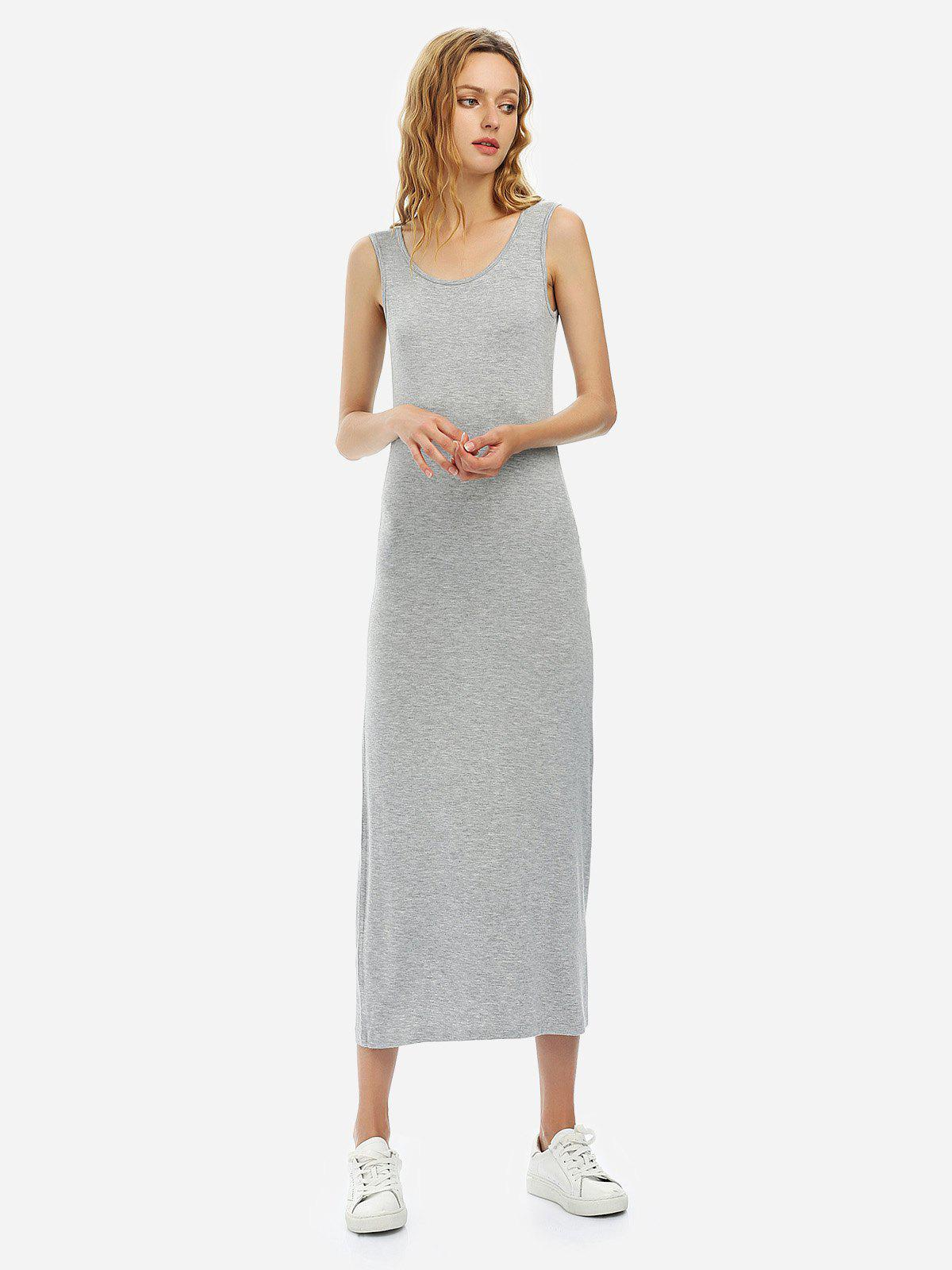 Latest Crew Neck Sleeveless Dress