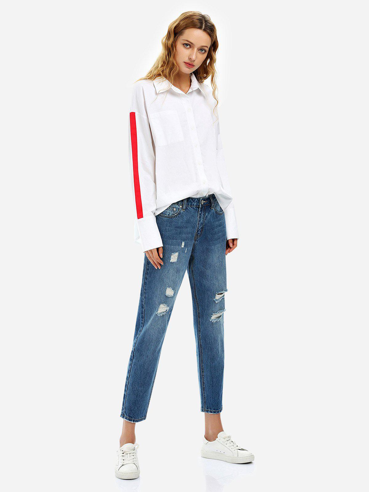 Buy Ripped Ankle Jeans