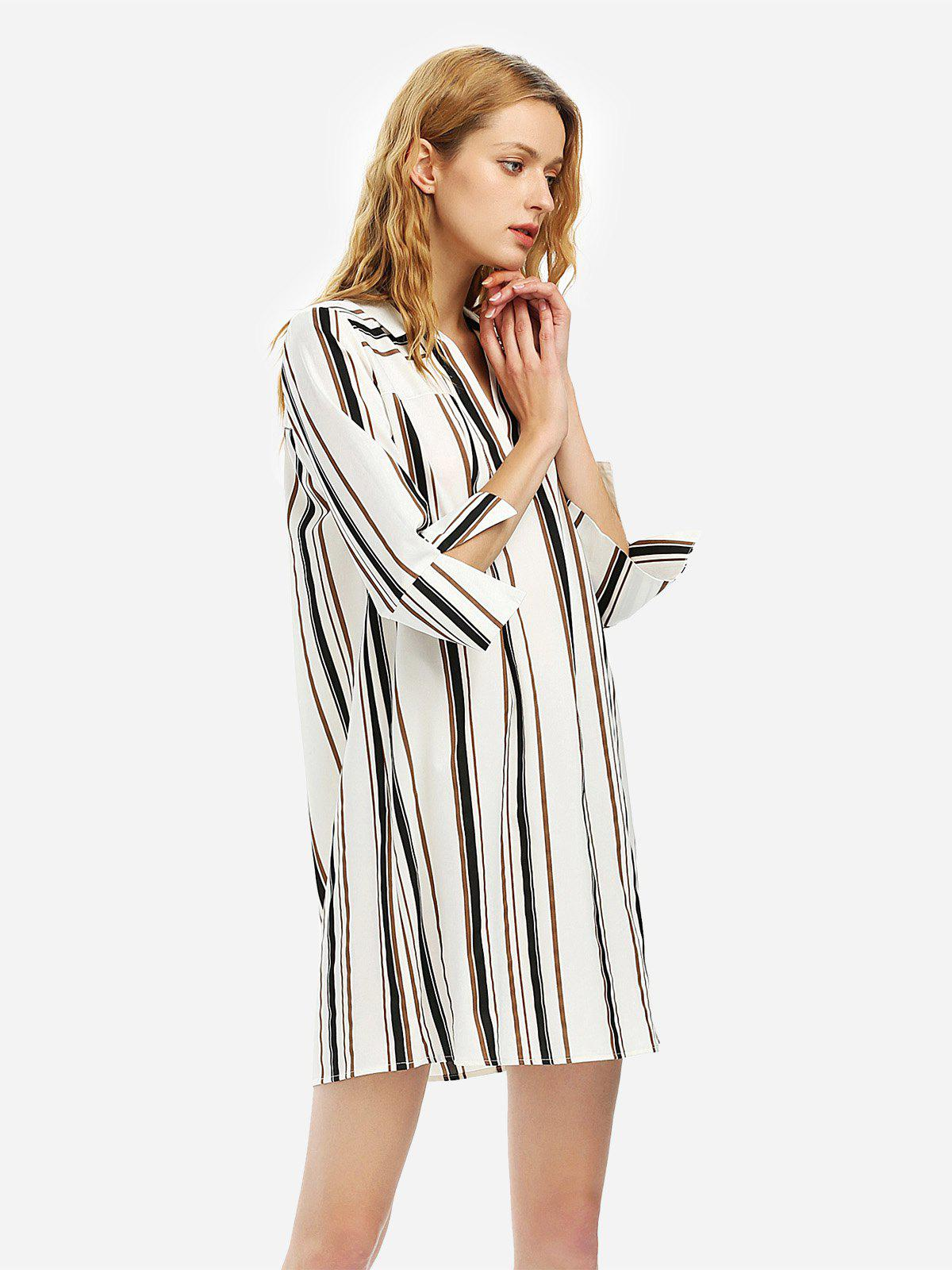Store V Neck Shirt Dress