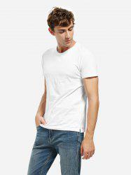 Crew Neck Side Slit T-shirt -
