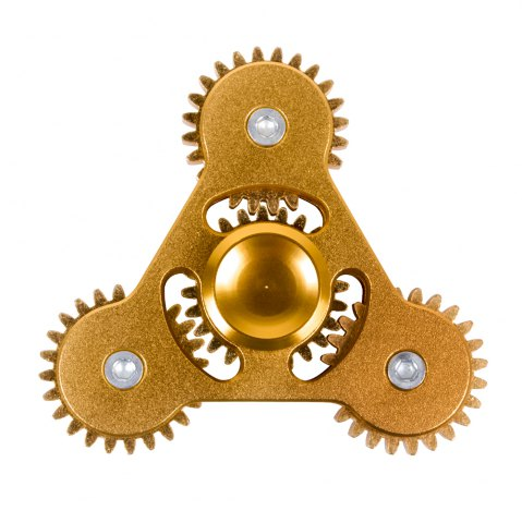 Best Linkage ADHD Fidget Toy Hand Tri-spinner Stress Relief Toy Relaxation Gift for Adults GOLDEN