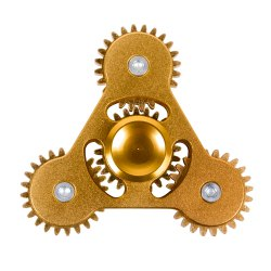 Linkage ADHD Fidget Toy Hand Tri-spinner Stress Relief Toy Relaxation Gift for Adults - GOLDEN