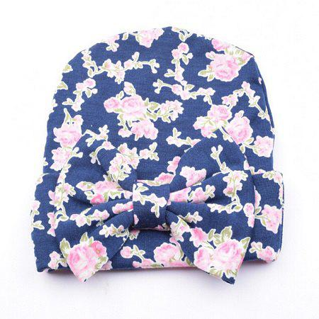 Latest Bow Cotton Infant Baby Soft Cute Kid Hat Cap for Newborn