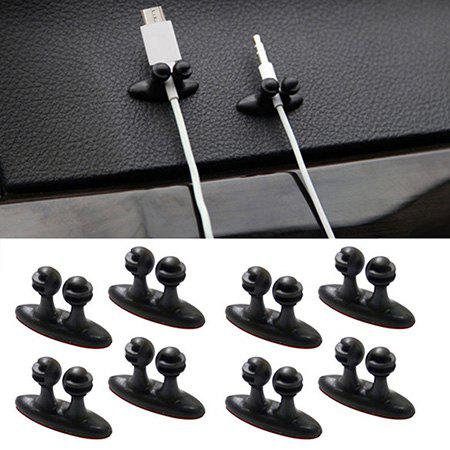 Online 8PCS Lot Car Wire Cable Holder Tie Clip Fixer Organizer