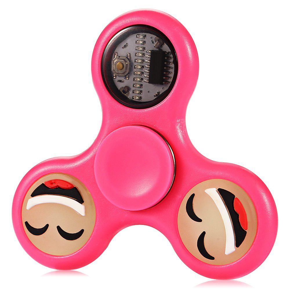 Best LED Happy Face Tri-blade EDC Fidget Spinner Focus Toy ADHD Anxiety Stress Relief