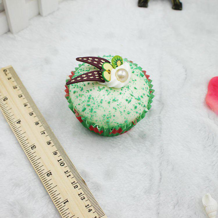 Latest Realistic Cupcake PU Foam Squishy Toy with Rabbit Ear Decoration Funny Stress Reliever Relaxation Gift