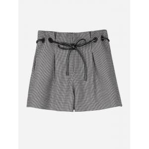 Shorts à carreaux - Café S