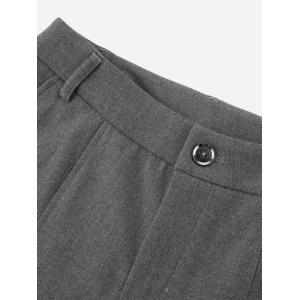Side Pocket Cropped Pants - GRAY M