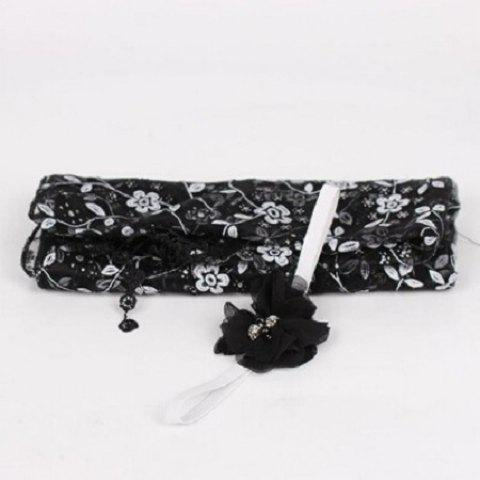 Newborn Maternity Silk Props Baby Photo Photography Quilt with Headband - BLACK