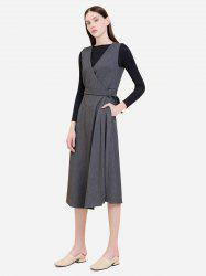 ZAN.STYLE Sleeveless Belted Dress Coat -