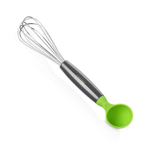 Shop COZZINE 1001 Mixing Whisk with Scoop - GREEN AND GREY  Mobile