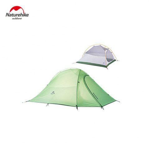 Hot Naturehike NH15T002 - T 190T Nylon Double Layer Water-resistant Camping Hiking Tent Tool for 2 Persons