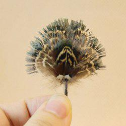 Mini Peafowl Style Cattail Leaf Fan Chinoiserie Decoration for Dollhouse -