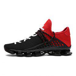 Stylish Lace Up Light Outdoor Walking Soccer Damping Athletic Shoes for Men -