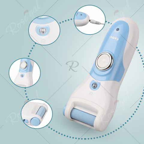 Trendy Kemei KM - 2503 Electric Rechargeable Feet Dead Skin Remover Care Pedicure - 110V-220V - EU PLUG BLUE AND WHITE Mobile