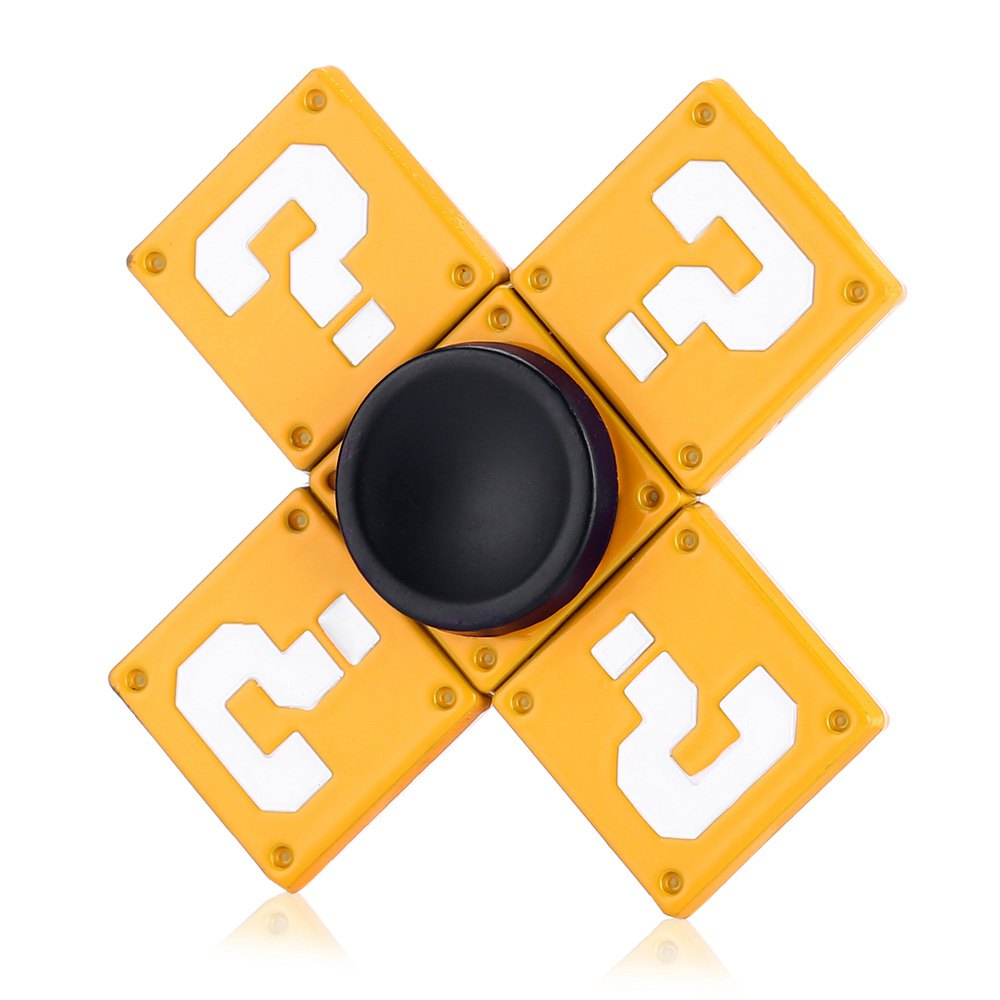 Four-blade Question Mark Brick Alloy Fidget Spinner Stress Relief Product Adult Fidgeting Toy