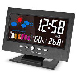 Unique Digital LED Alarm Clock Calendar Thermometer Date Time Watch Night Light -