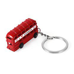 3D Zinc Alloy London Double-decker Bus Key Ring -