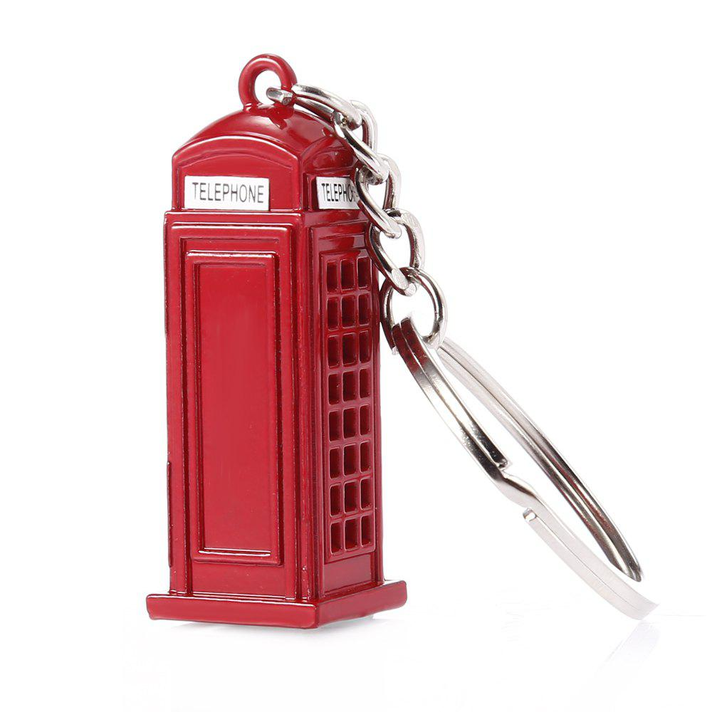 Discount 3D London Telephone Booth Zinc Alloy Key Ring