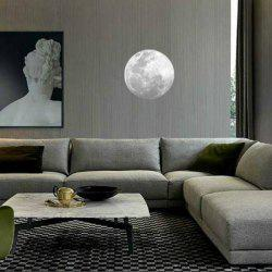 Full Moon Style Fluorescent Moon Wall Stickers Creative Home Decoration Romantic Wallpaper for Bedroom / Living Room - GREEN S
