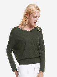 ZAN.STYLE V Neck Dolman Sleeve Sweater Knitwear -
