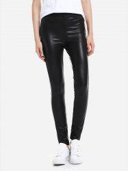 ZAN.STYLE Leather Leggings with Elasticized Waist -