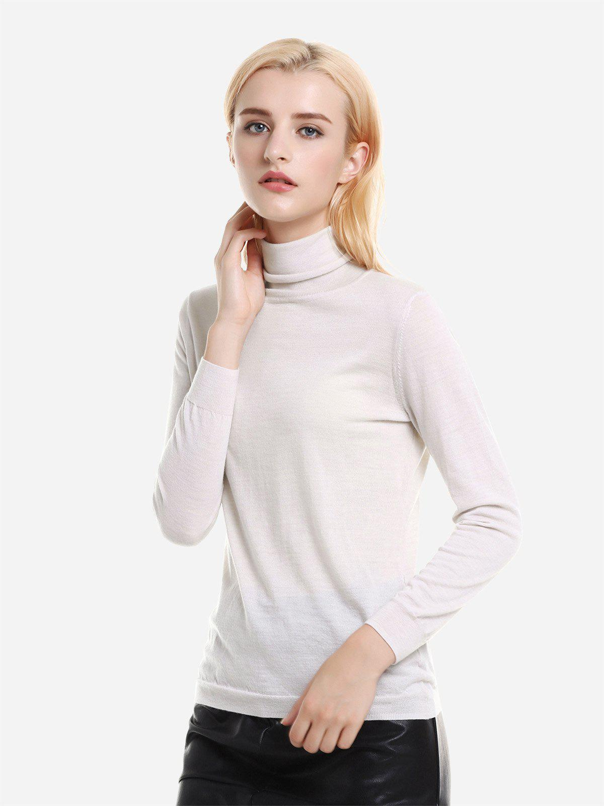 Buy ZAN.STYLE Ribbed Wool Turtleneck Sweater