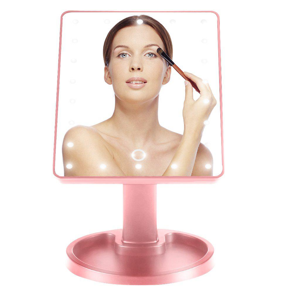 Affordable Smart Touch Switch Ultra-clear Large LED Mirror 180 Degree Rotation Stand with Countertop Cosmetics Storage Tray Perfect Lighting for Flawless Makeup