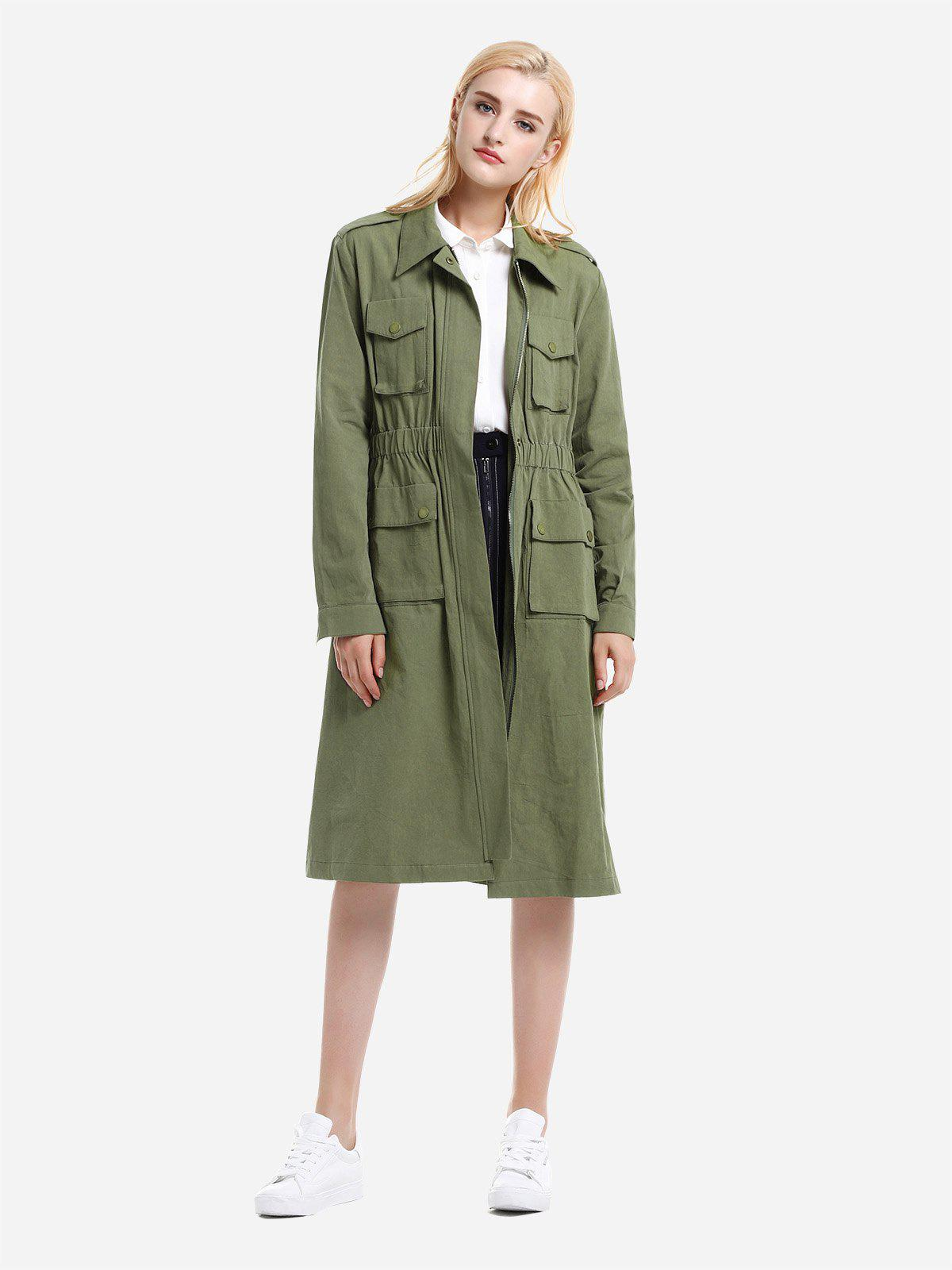Trendy ZAN.STYLE Utility Trench Coat