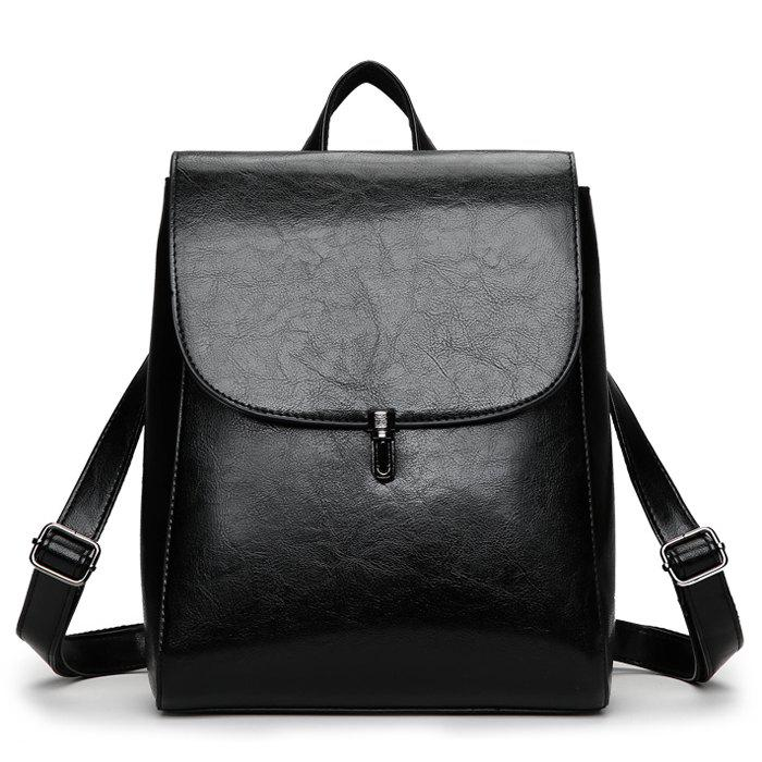 Cheap Fashion Retro Solid Color PU Backpack for Women