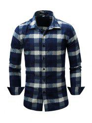 FREDD MARSHALL Male Classic Long Sleeve Cotton Checked Shirt -