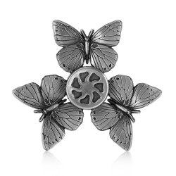 Retro Butterfly Zinc Alloy Fidget Tri-spinner Pressure Reducing Toy -