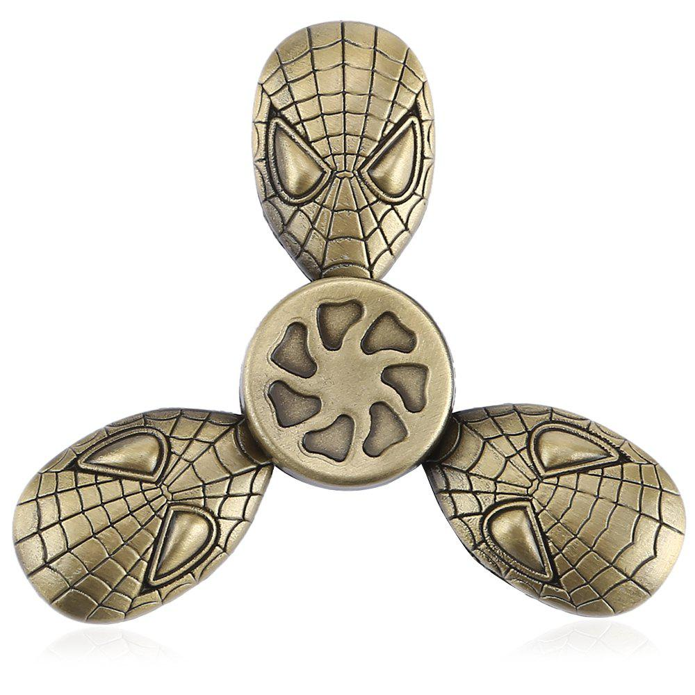 Fidget Tri-spinner en Alien Cool en Alliage de Zinc Produit de Décompression Cadeau de Relaxation Bronze
