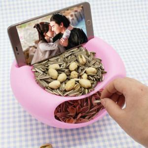 Bilayer Snacks Melon Seeds Convenient Storage Box - GREEN