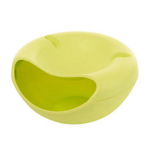 Fashion Bilayer Snacks Melon Seeds Convenient Storage Box GREEN