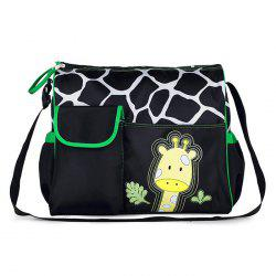 Giraffe Pattern Large Capacity Diaper Bag Baby Nappy Wet Clothes Accessories Storage Dual Zipper Container -
