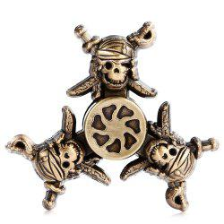 Creative Retro Pirate Style Zinc Alloy Fidget Tri-spinner -