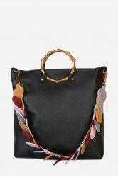 Stylish Multifunctional PU Shoulder Bag for Women with Colorful Strap -