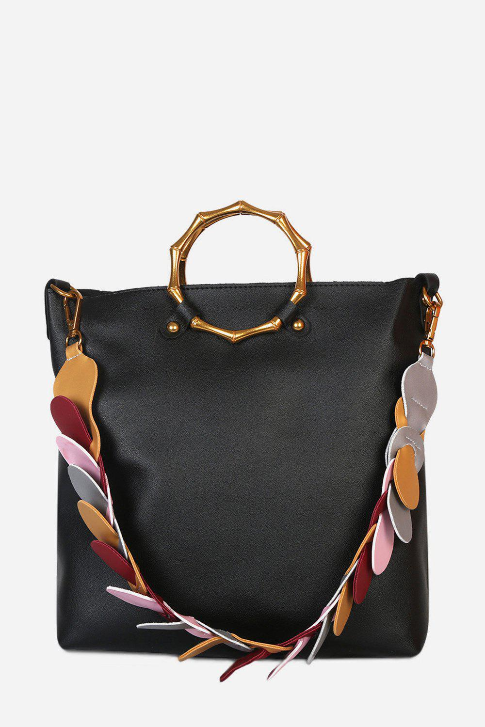 Chic Stylish Multifunctional PU Shoulder Bag for Women with Colorful Strap
