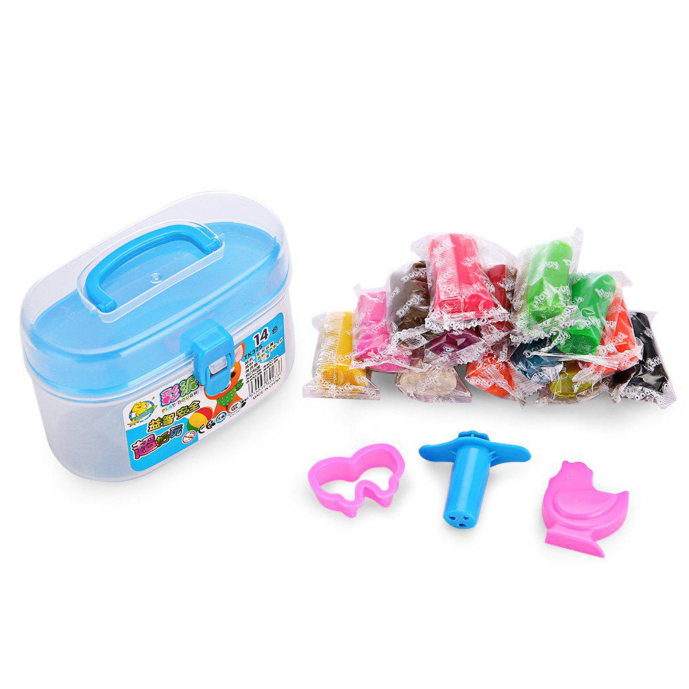 14 Colors Diy Stress Relief Toy Colorful Resin Clay Mud For Kids Handicraft Game