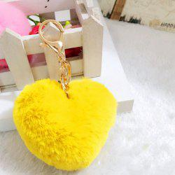 Lovely Heart Pattern Plush Key Chain Hang Decoration for Bag / Car -