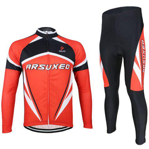 Buy Arsuxeo ZLS06V Cycling Suits Jersey Jacket Pants Set Bike Bicycle Running Long Sleeve Clothes for Male -   Mobile