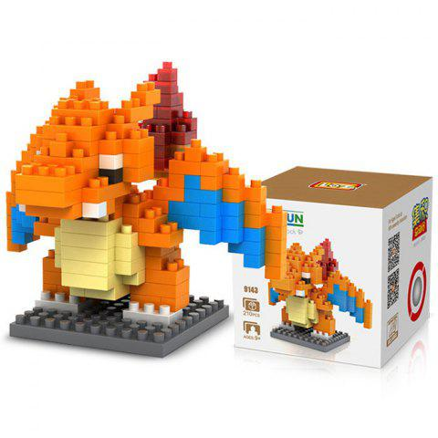 Outfits LOZ 210Pcs M - 9143 Charizard Pokemon Figure Building Block Educational Kid Toy