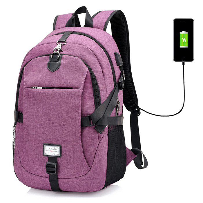 e9375eb5af6 2019 Leisure Anti-theft Canvas Backpack With Usb Port For Men ...